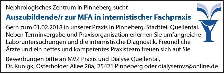 Auszubildende/r zur MFA in internistischer Fachpraxis