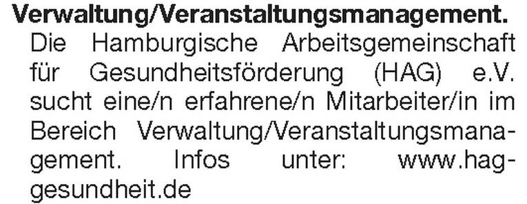 Mitarbeiter/in Verwaltung/Veranstaltungsmanagement.