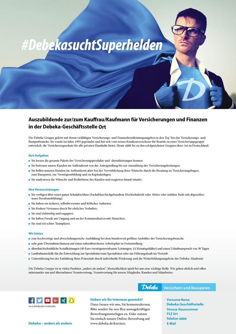 Auszubildende zur/zum Kauffrau/Kaufmann für Versicherungen und Finanzen
