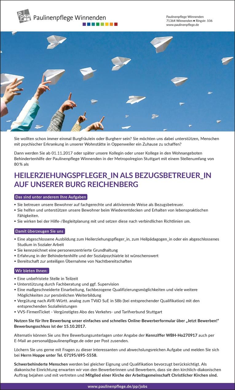 Heilerziehungspfleger_in als Bezugsbetreuer_in auf unserer Burg Reichenberg