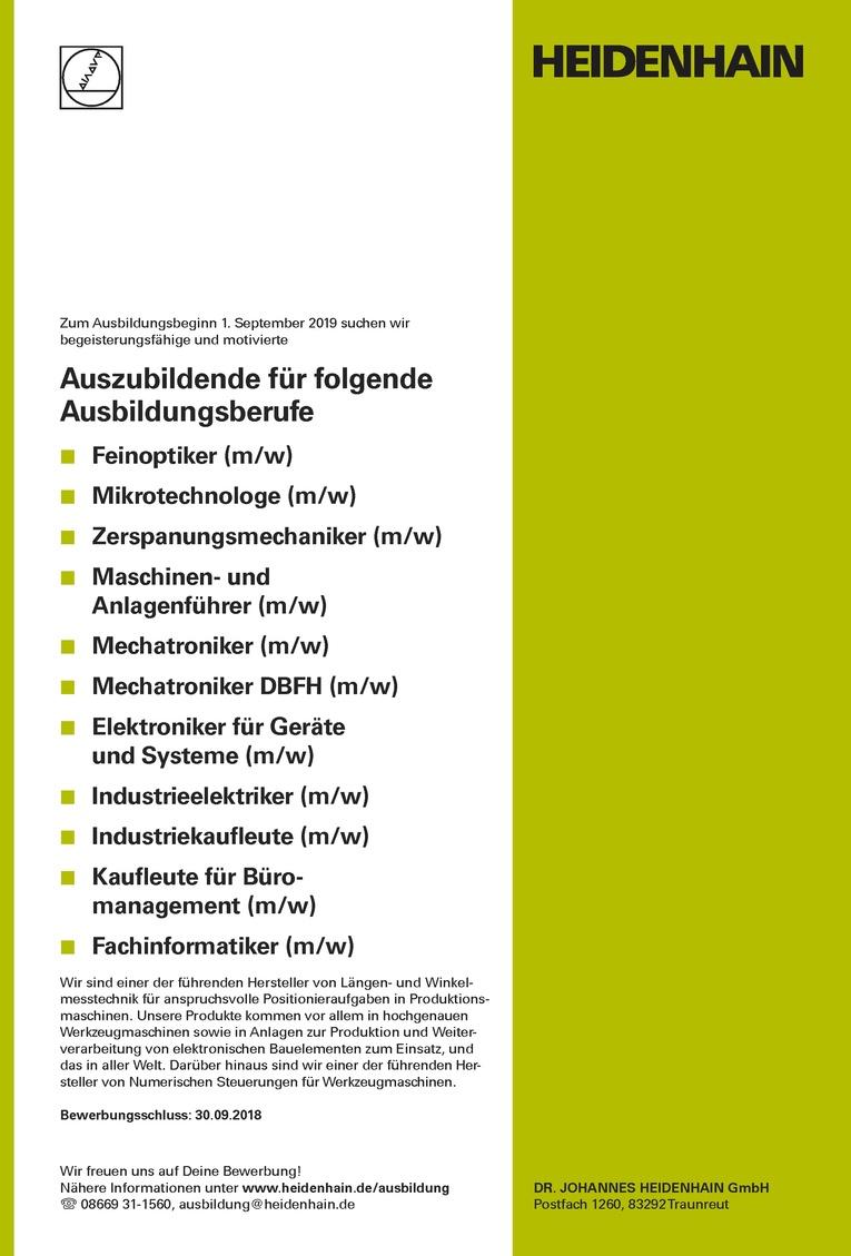 ausbildung zum zerspanungsmechaniker mw zum ausbildungsbeginn 1 september 2019 - Bewerbung Zerspanungsmechaniker
