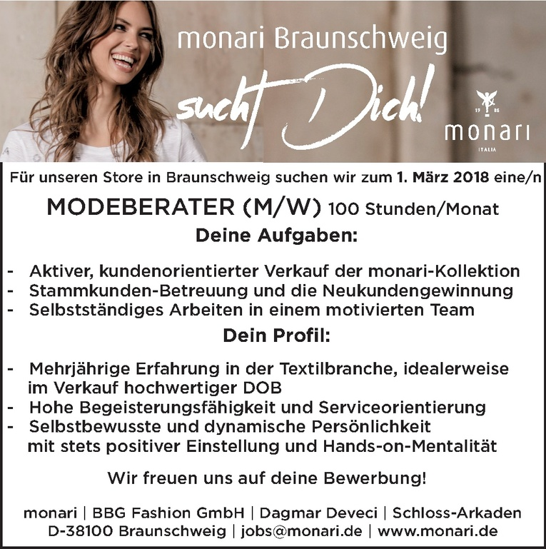 MODEBERATER (M/W)
