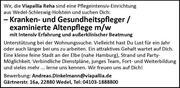 Kranken- und Gesundheitspfleger / examinierte Altenpflege m/w