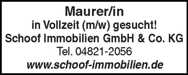 Maurer/in