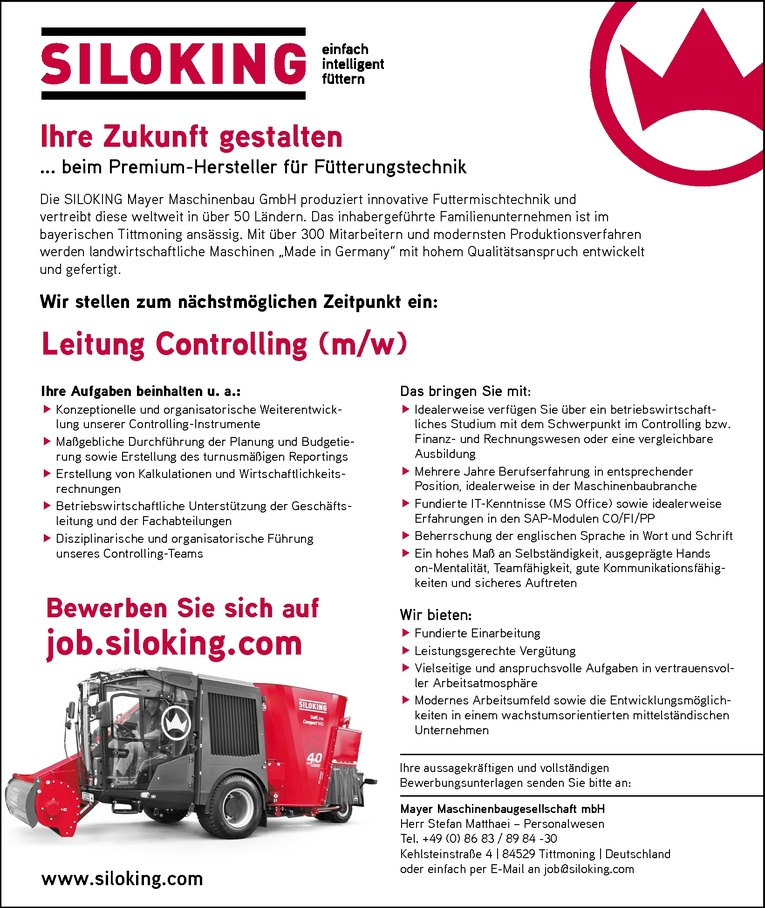 Leitung Controlling (m/w)