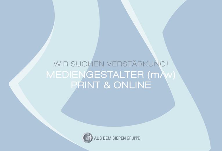 Mediengestalter (m/w) für den Bereich Print & Online gesucht