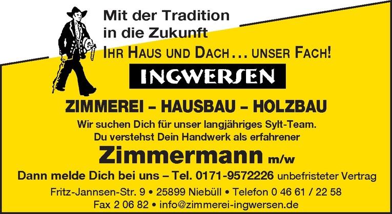Zimmermann m/w