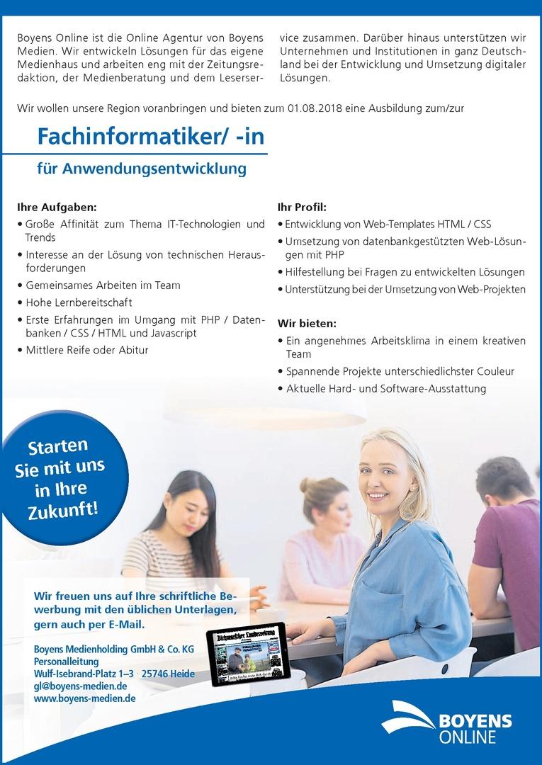Ausbildung zum/zur Fachinformatiker/ -in für Anwendungsentwicklung