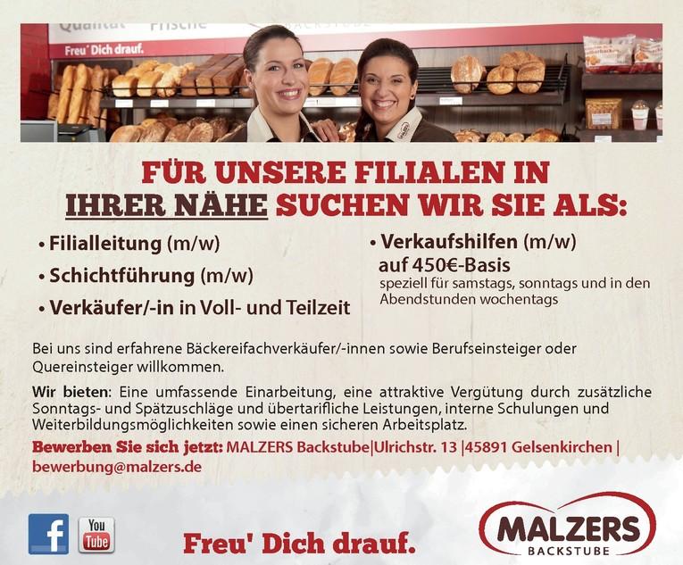 Bäckereifachverkäufer/-in / Verkäufer/-in für unsere Filialen in Ihrer Nähe