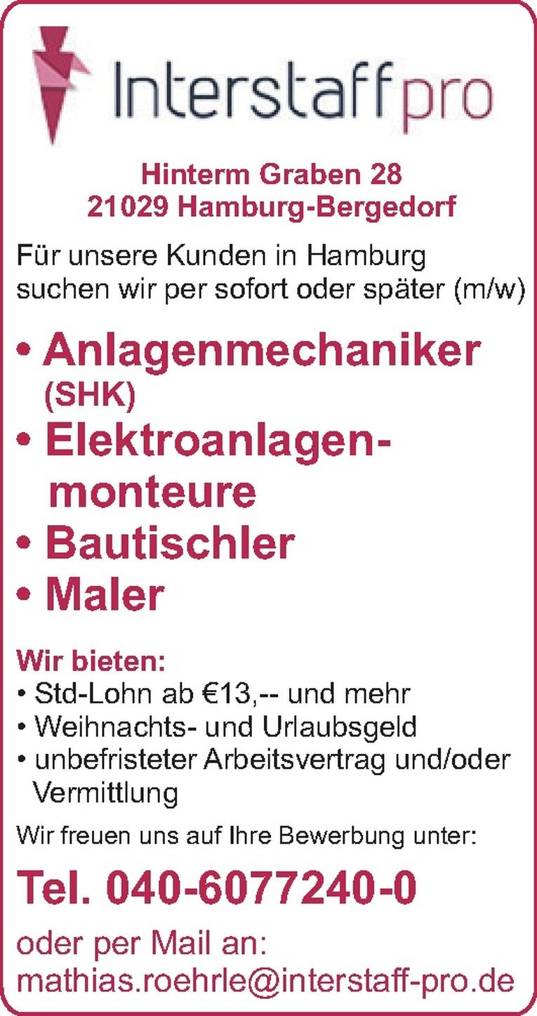 Anlagenmechaniker (SHK) (m/w)