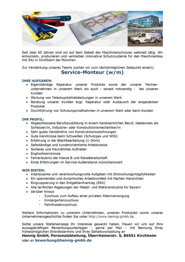 Service-Monteur (w/m)