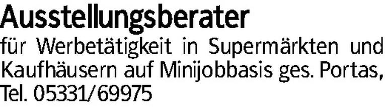 Ausstellungsberater (m/w)