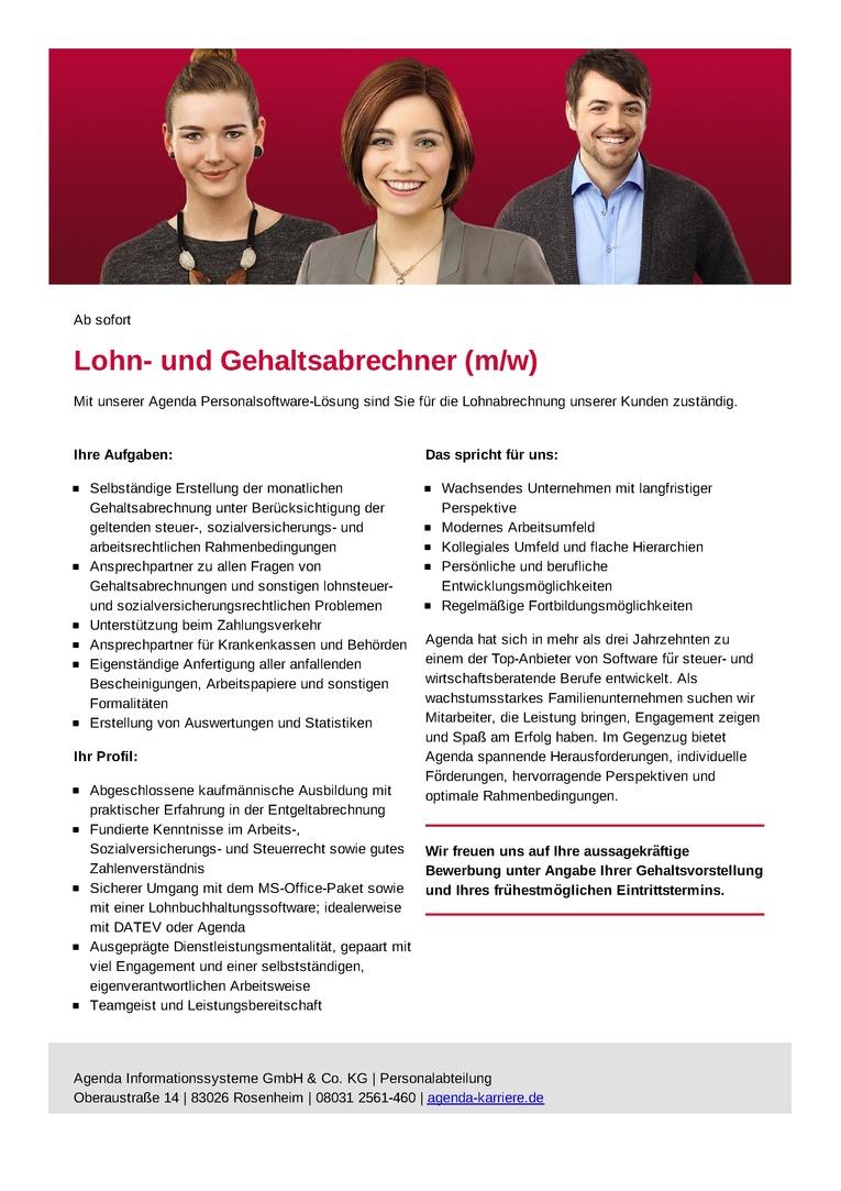 Lohn- und Gehaltsabrechner (m/w)