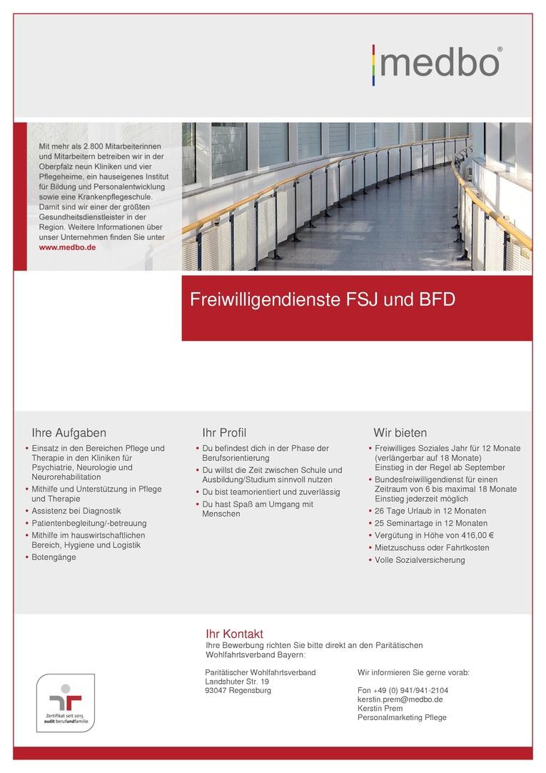 Freiwilligendienste FSJ und BFD