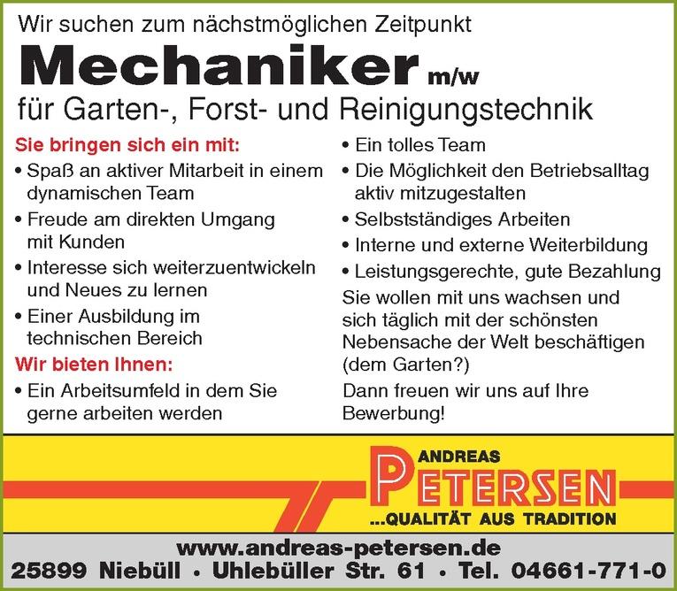 Mechaniker m/w für Garten-, Forst- und Reinigungstechnik