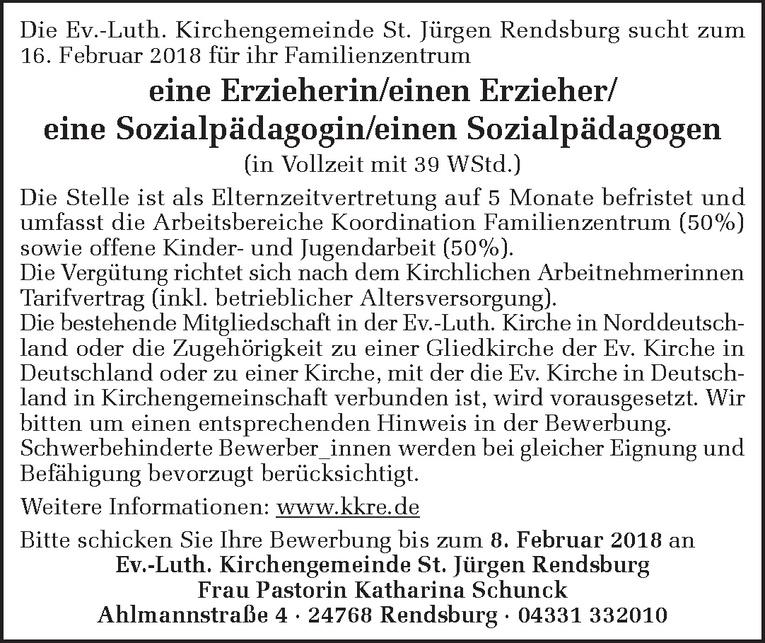 Erzieherin/Erzieher / Sozialpädagogin/Sozialpädagogen