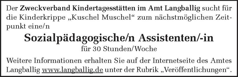 Sozialpädagogische/n Assistenten/-in