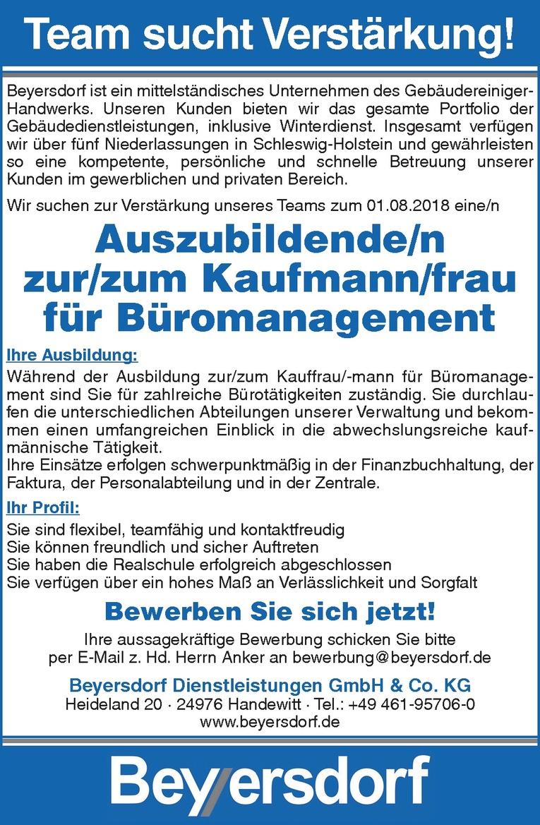 Auszubildende/n zur/zum Kaufmann/frau für Büromanagement