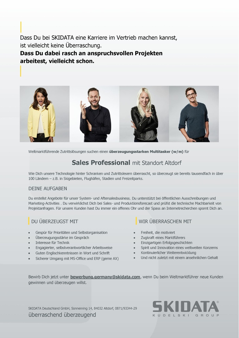 Sales Professional (m/w)