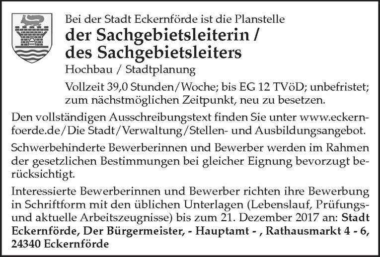 Sachgebietsleiterin / Sachgebietsleiter Hochbau / Stadtplanung