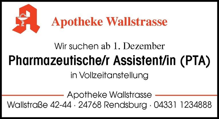 Pharmazeutische/r Assistent/in (PTA)