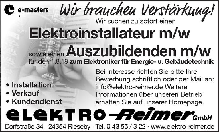 Elektroinstallateur m/w