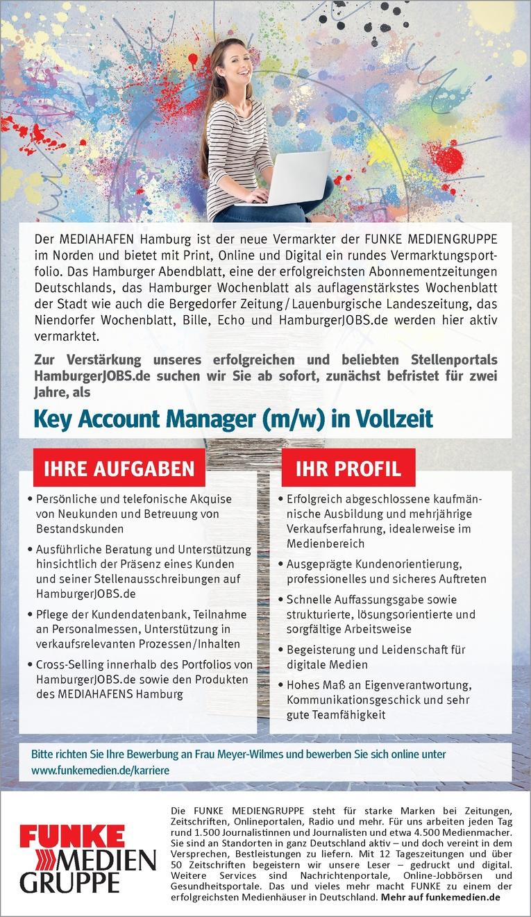 Key Account Manager (m/w) in Vollzeit