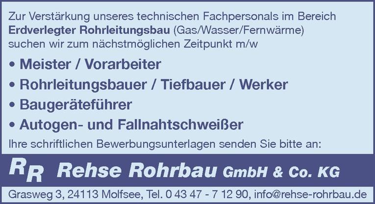 Meister / Vorarbeiter m/w