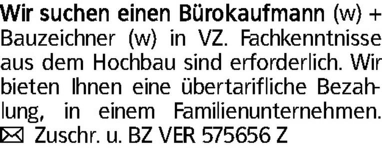 Bauzeichner (w/m)