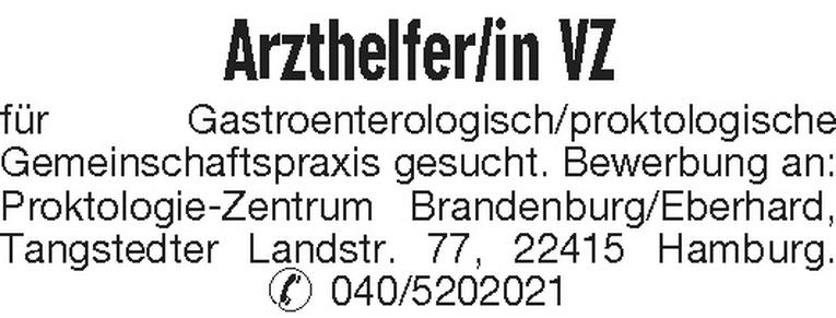 Arzthelfer/in