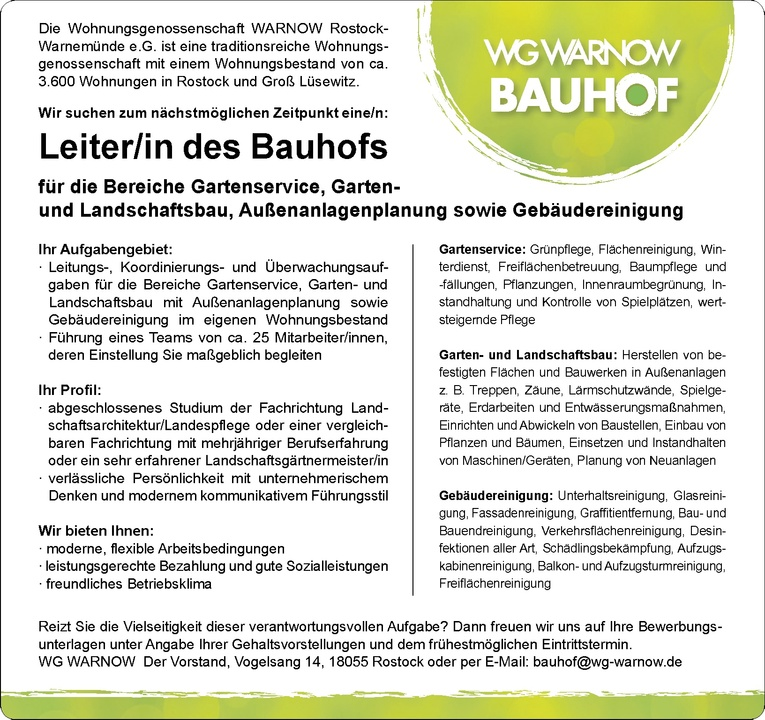 Leiter/in des Bauhofs