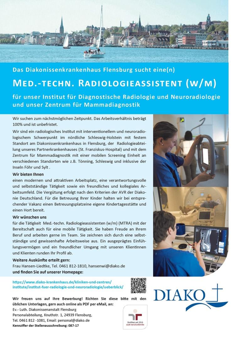 Medizinisch.-technischer Radiologieassistent (w/m)