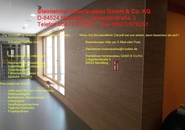 Schreiner/Tischler (M/W) mit Trockenbauerfahrung