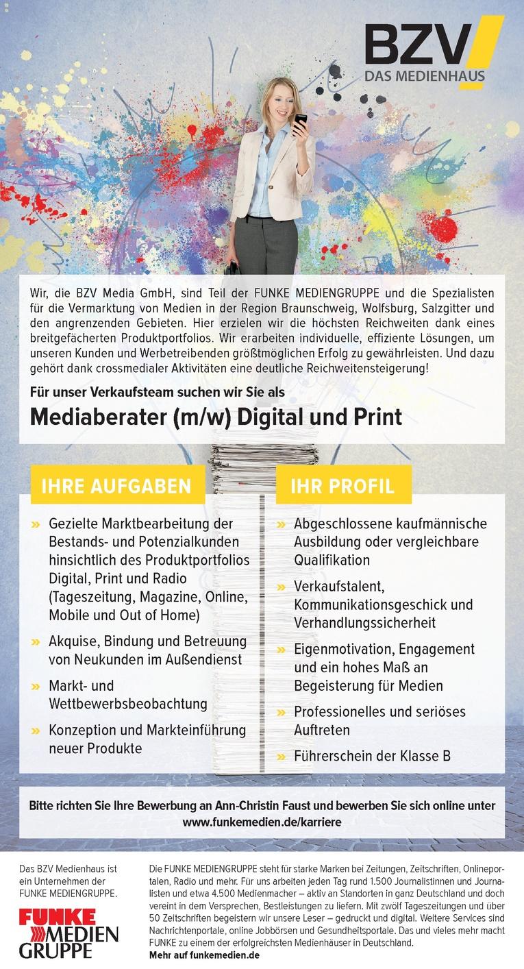 Mediaberater Digital und Print (m/w)