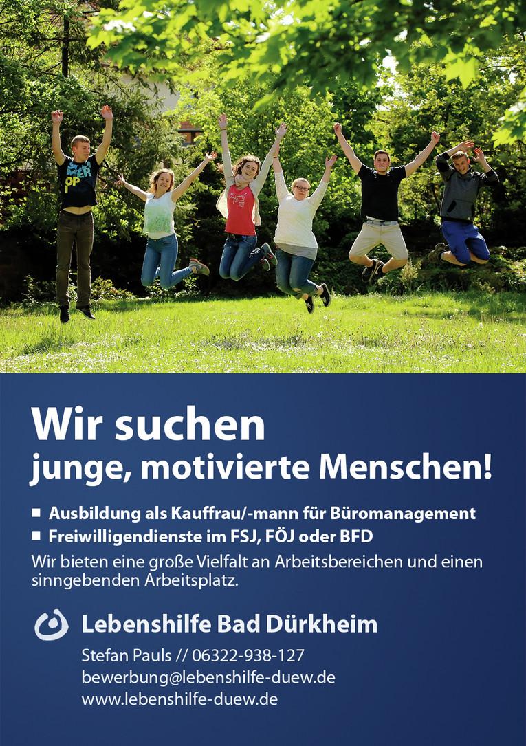 Freiwilliges soziales Engagement im FSJ, FÖJ & BFD, eine Chance zur Berufsfindung! (m/w)