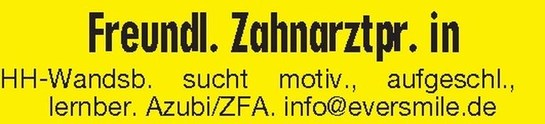 Ausbildung: ZFA