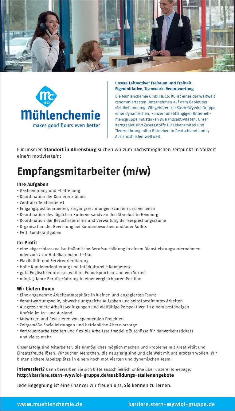 Empfangsmitarbeiter (m/w)