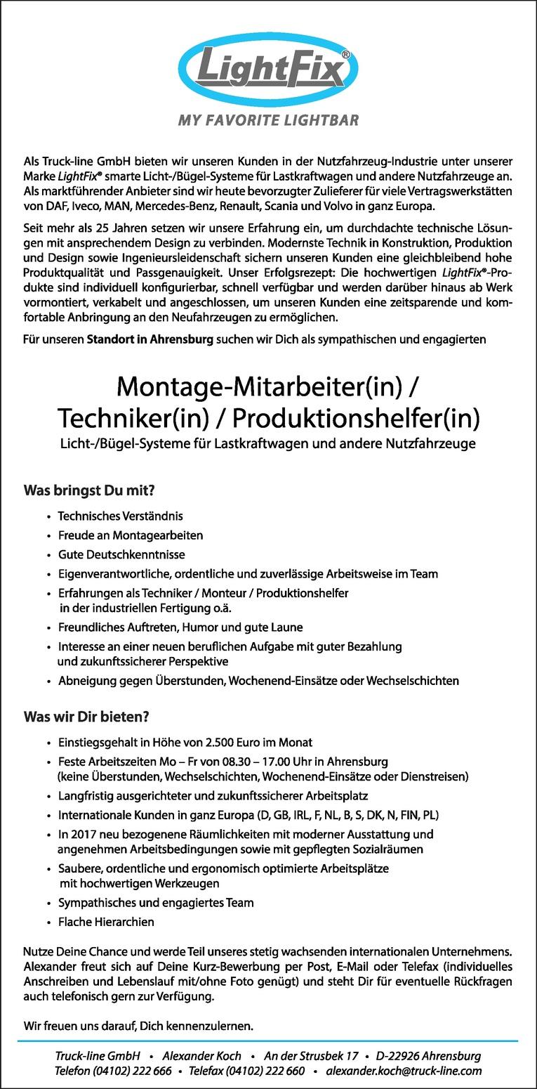 Berühmt Montagelinie Arbeiter Stellenbeschreibung Lebenslauf Galerie ...
