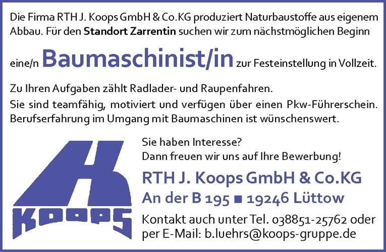Baumaschinist/in