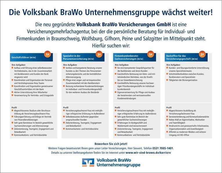 Firmenkundenberater Sachversicherungen (m/w)