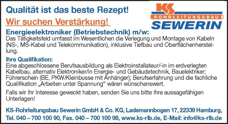 Energieelektroniker (Betriebstechnik) m/w