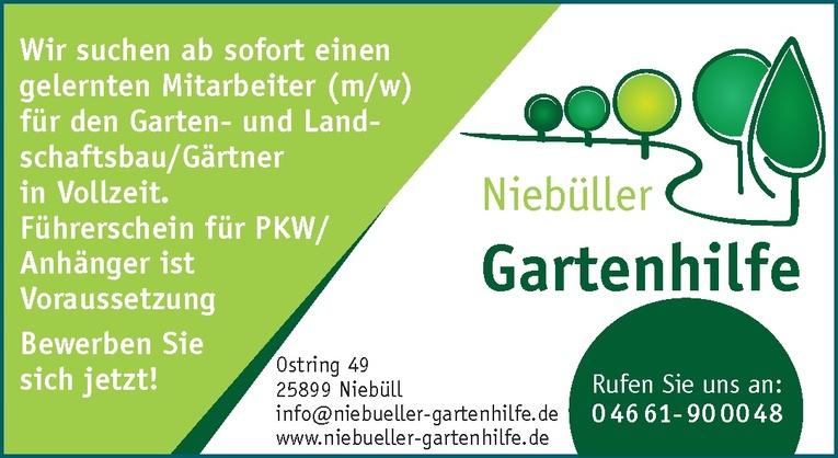 Mitarbeiter (m/w) für den Garten- und Landschaftsbau/Gärtner
