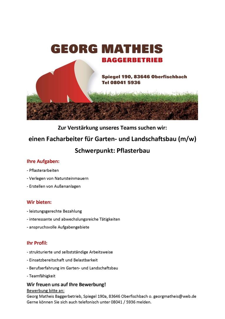 Facharbeiter für Garten- und Landschaftsbau (m/w)