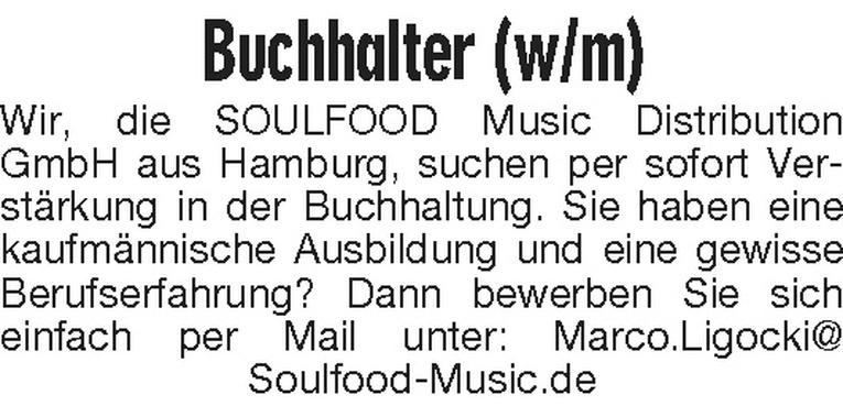 Buchhalter (w/m)