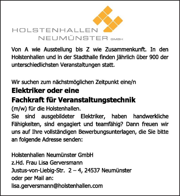 Elektriker / Fachkraft für Veranstaltungstechnik (m/w)