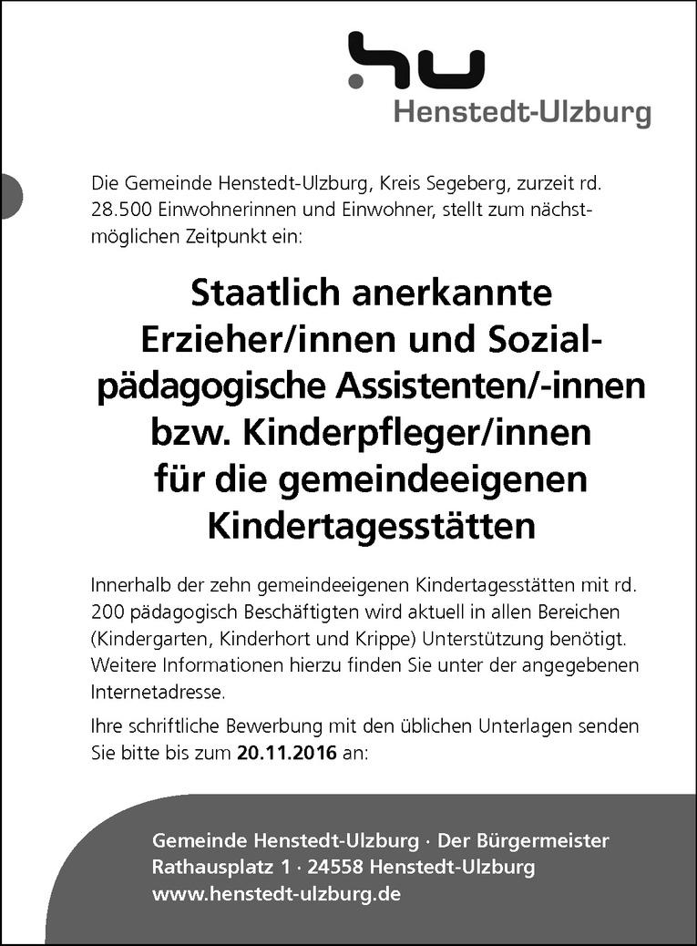 Staatlich anerkannte Sozialpädagogische Assistenten/-innen / Kinderpfleger/innen