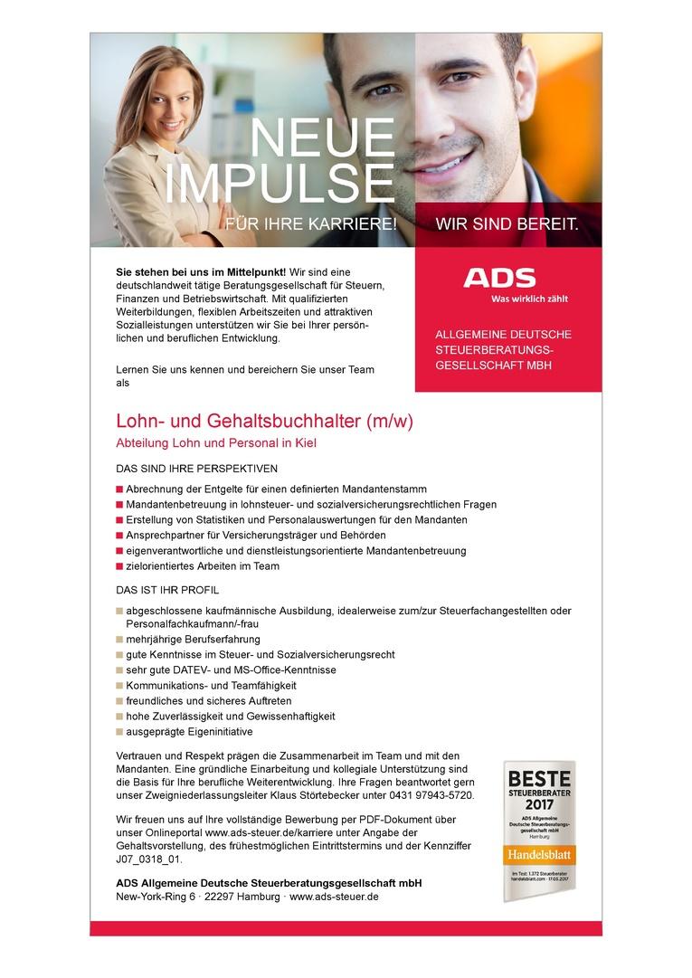 Lohnund Gehaltsbuchhalter (m/w)