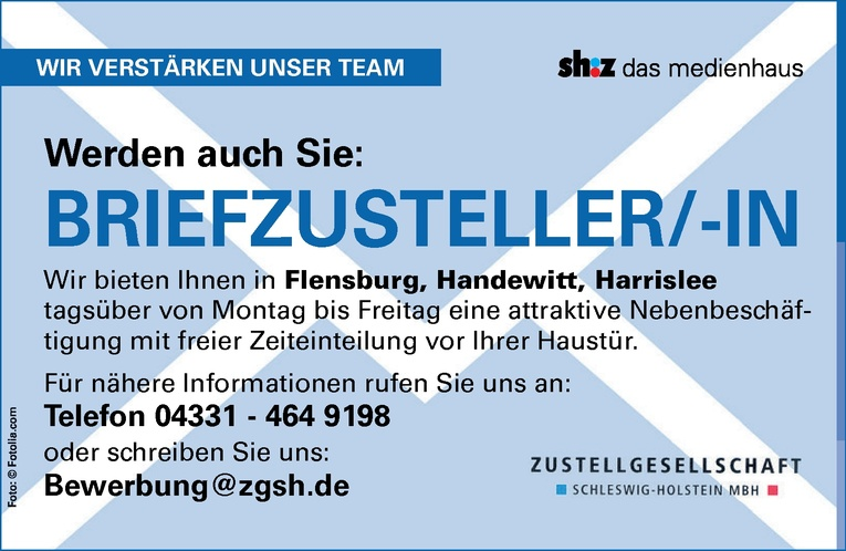 Briefzusteller/-in