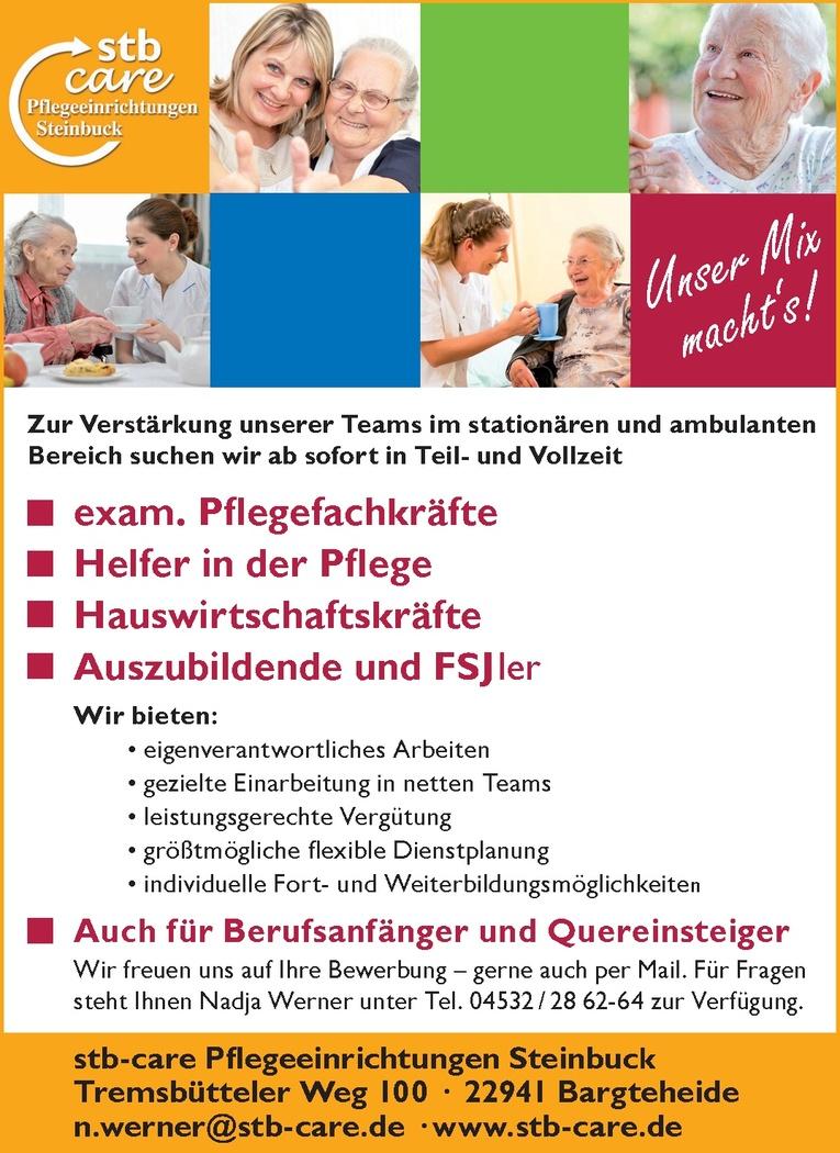 exam. Pflegefachkräfte (m/w)