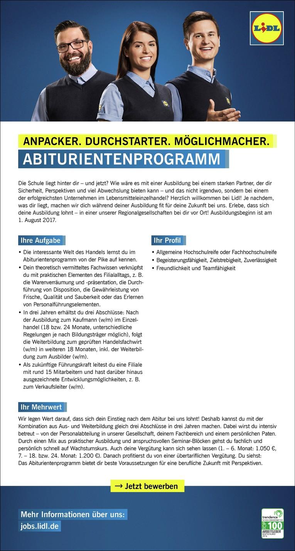 Azubi Abiturientenprogramm  (m/w), Deuerlinger Str. 44